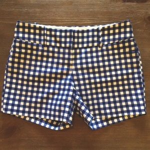 The Limited Blue and White Gingham Shorts